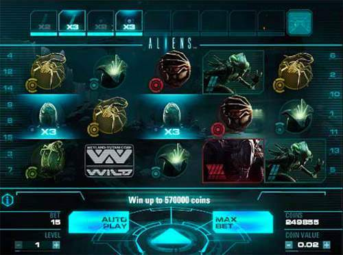 online casino game aliens
