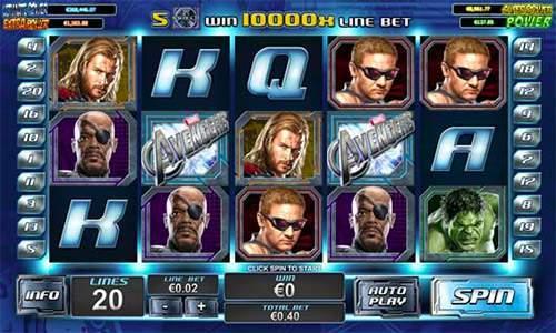 online casino game avengers