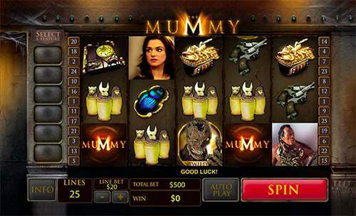online casino game the mummy