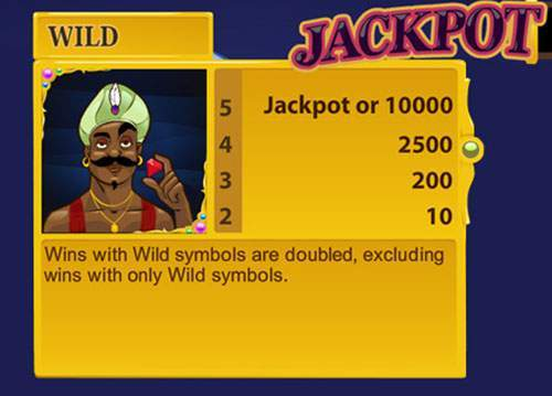 arabian nights jackpot symbool