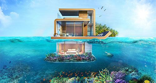 seahorse drijvende villa Dubai
