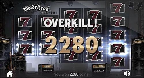 motorhead slot win overkill