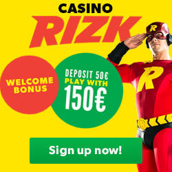 welcome bonus at Rizk casino