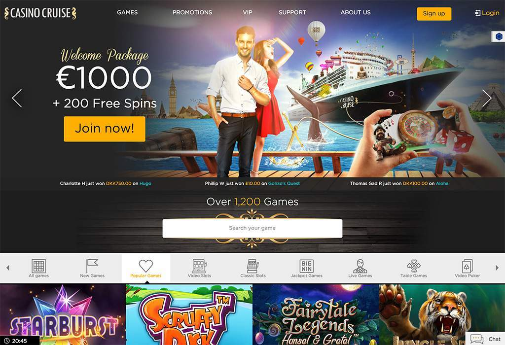 play with welcome bonus at casino cruise