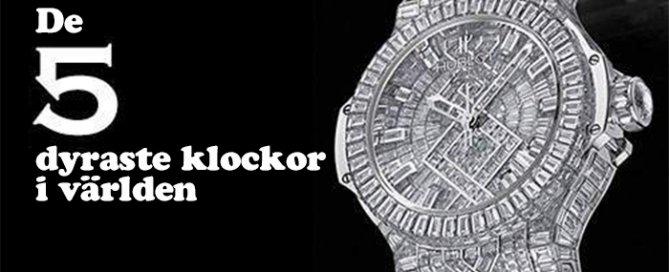 de 5 dyraste klockor i varlden