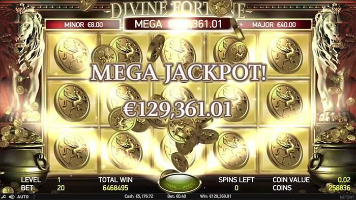 divine fortune jackpot game