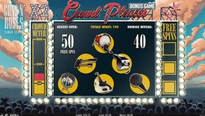 musical instruments guns n' roses slot machine