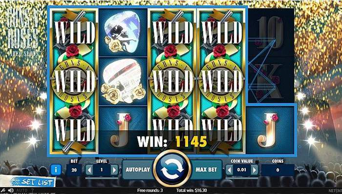 guns n' roses slot wilds