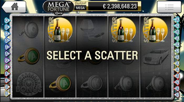 mega fortune scatter