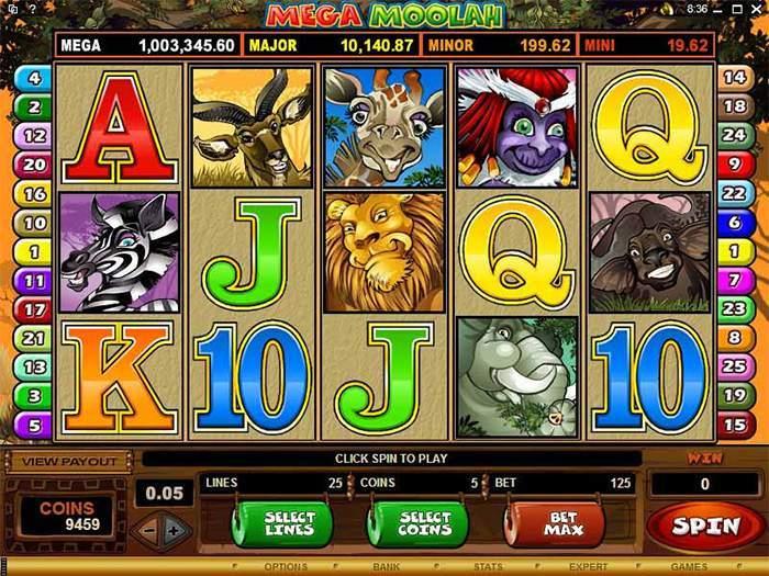 mega moolah progressive jackpot game