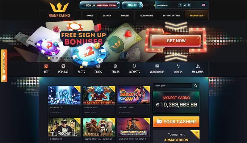 verified and trusted online casino Playfrank