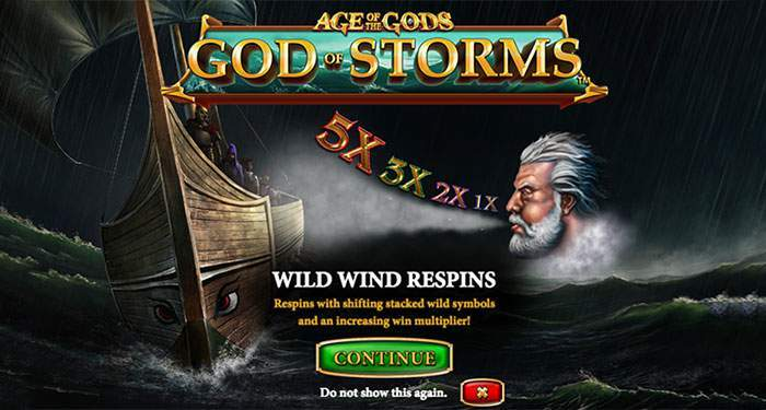 age of gods god of storms progressive slot by playtech