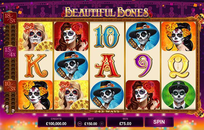 Microgaming beautiful bones slot