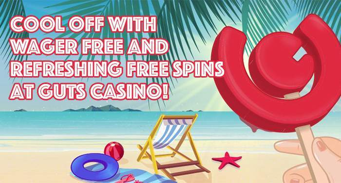 wager free spins during the summer at guts casino