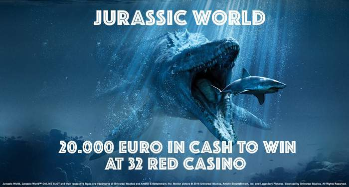 jurassic world promotion at 32 red