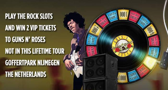 win VIP tickets for guns n' roses at kroon casino