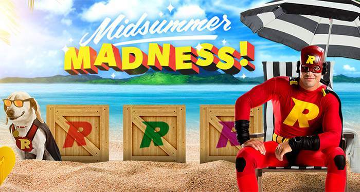 Midsummer Madness Rizk Casino Promotion: win up to ВЈ100 every day!