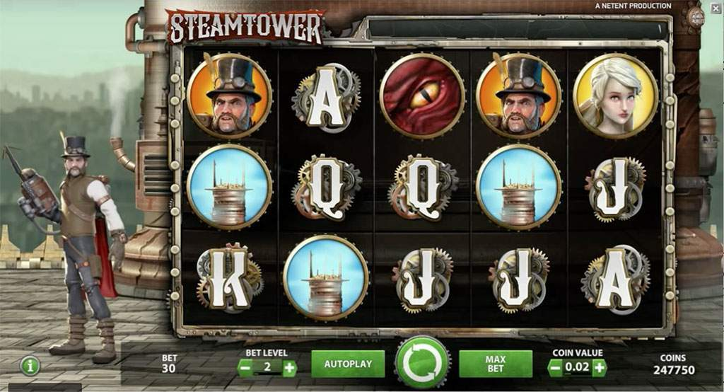steam tower slot by netent