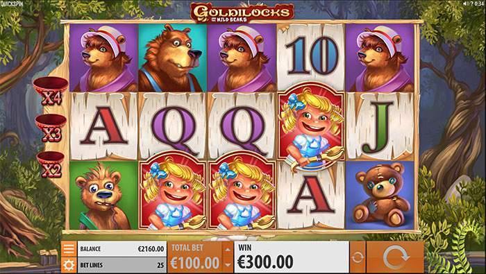 goldilocks and the wild bears bonus game