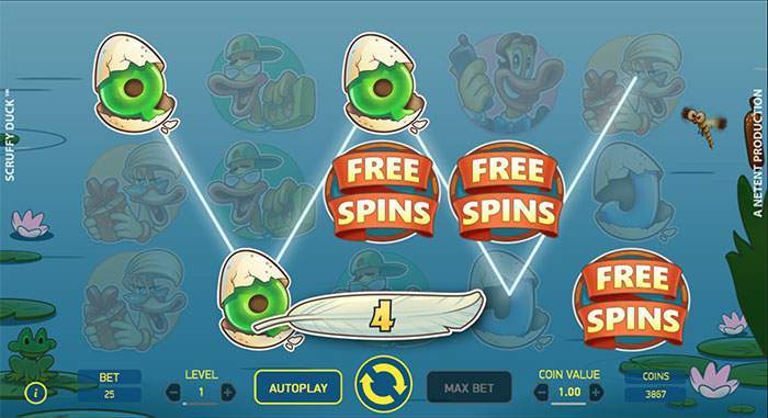 scruffy duck free spins