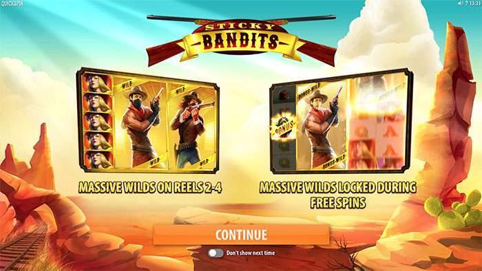 sticky bandits startscreen