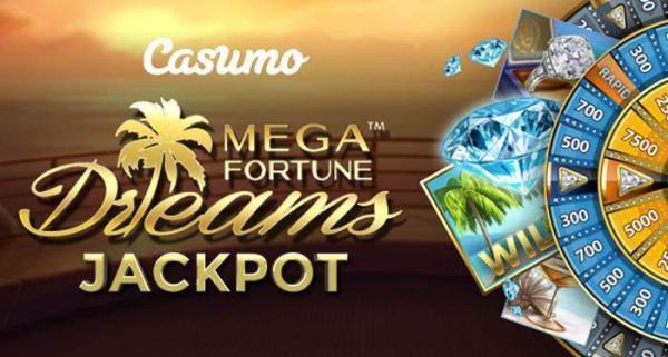 mega fortunee dreams jackpot at Casumo
