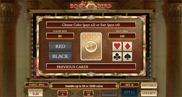 book of dead gamble