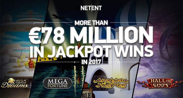 Netent jackpot games pay out over 78 million in 2017