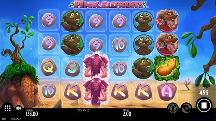 pink elephant base game slot review