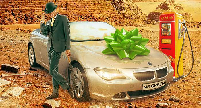 win a BMW sportscar at mr. green