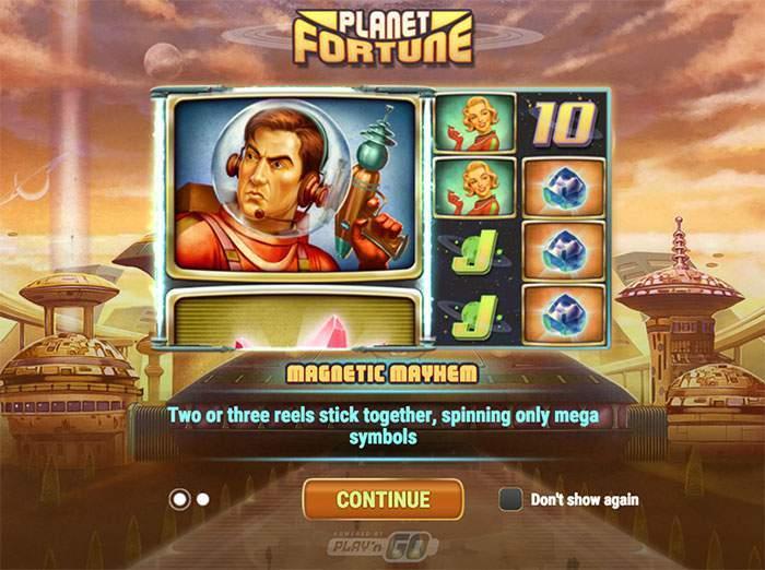 planet fortune slot start screen