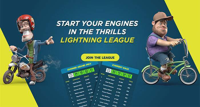 play the thrills lightning league for extra prizes