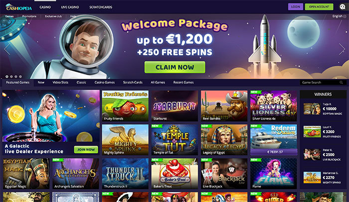 cashiopeia casino welcome bonus