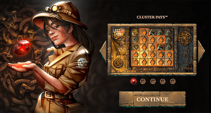 slot review lost relics by netent