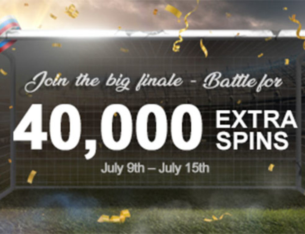 The big finale – Win 40,000 Extra Spins!