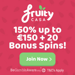 welcome bonus at fruity casa casino