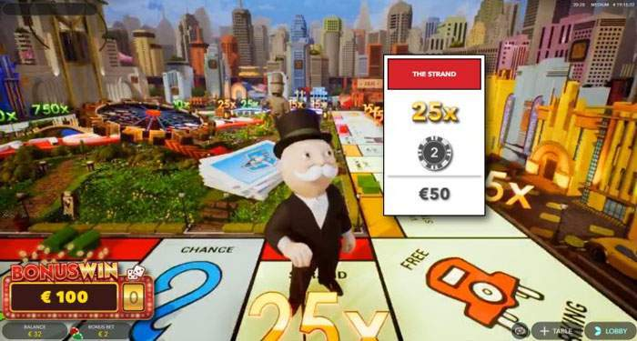 monopoly live 3D board
