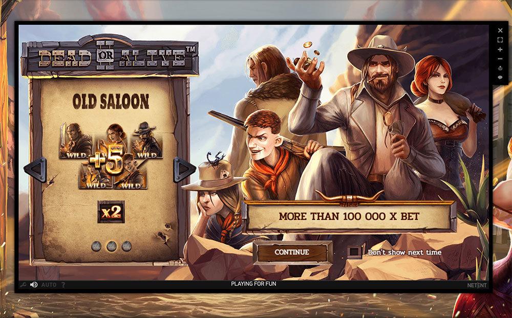 dead or alive 2 old saloon bonus game