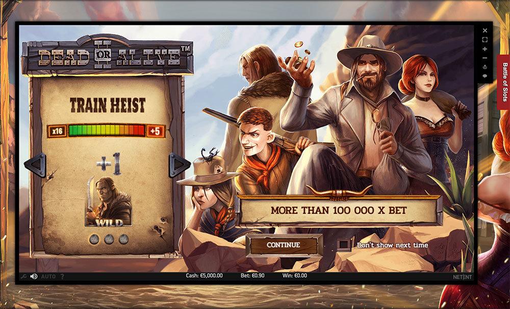 dead or alive 2 train heist bonus game