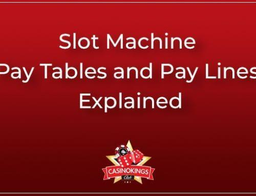 Slot machine pay lines and pay tables explained