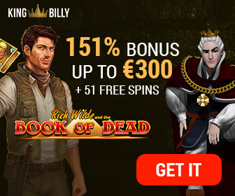 exclusive deposit bonus at King Billy casino